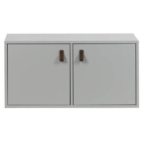 vtwonen Caisson empilable 2 compartiments en béton gris bois 81x35x41cm