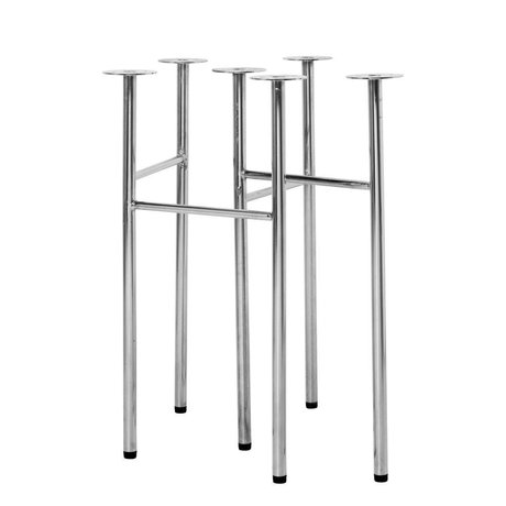 Ferm Living Tafelpoten Mingle W48 chrome metaal set van 2