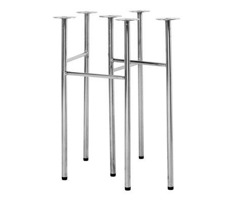 Ferm Living Pieds de table Mingle W68 en métal chromé, ensemble de 2