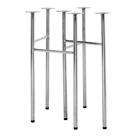 Ferm Living Tafelpoten Mingle W68 chrome metaal set van 2
