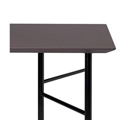 Ferm Living Plateau de table Mingle 160cm linoléum en bois taupe 160x90x2,5cm
