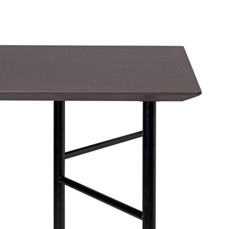 Ferm Living Tabletop Mingle Desk 135cm taupe wood linoleum 135x65x5cm