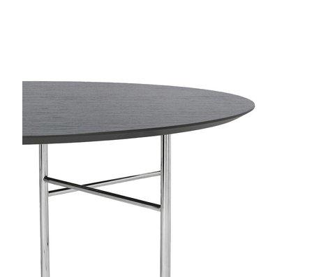 Ferm Living Tischplatte Mingle Round schwarz Holz Linoleum Ø130x2,5cm