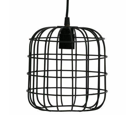 LEF collections Suspension Lotus en métal noir 20x20x20cm