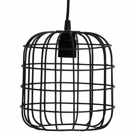 LEF collections Hanglamp Lotus zwart metaal 20x20x20cm