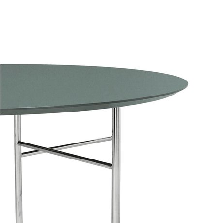 Ferm Living Tischplatte Mingle Round grün Holz Linoleum Ø130x2,5cm