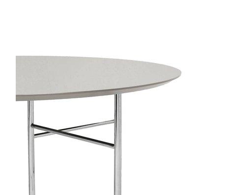 Ferm Living Tabletop Mingle Round light gray wood linoleum Ø130x2,5cm