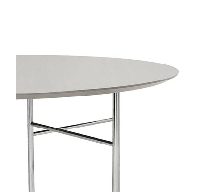 Ferm Living Tischplatte Mingle Round hellgrau Holz Linoleum Ø130x2,5cm