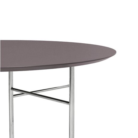 Ferm Living Table top Mingle Round taupe wood linoleum Ø130x2,5cm