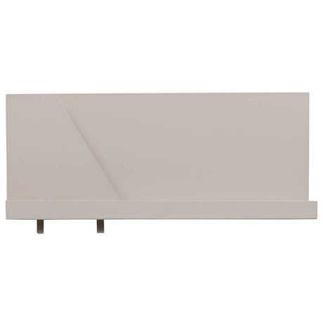 LEF collections Wandregal Luca grau Metall 50x10x23cm