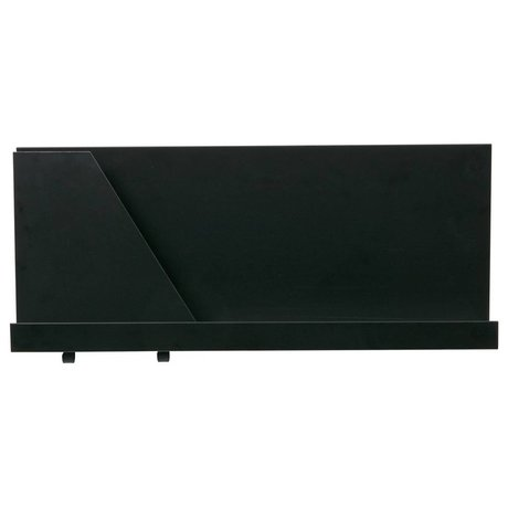 LEF collections Wandregal Luca schwarz Metall 50x10x23cm