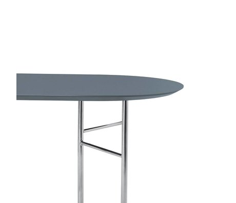 Ferm Living Tischplatte Mingle Oval 150cm staubig blau Holz Linoleum 150x75x2,5cm