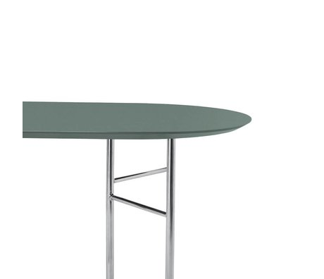 Ferm Living Table top Mingle Oval 150cm green wood linoleum 150x75x2,5cm