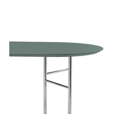 Ferm Living Tafelblad Mingle Oval 150cm groen hout linoleum 150x75x2,5cm