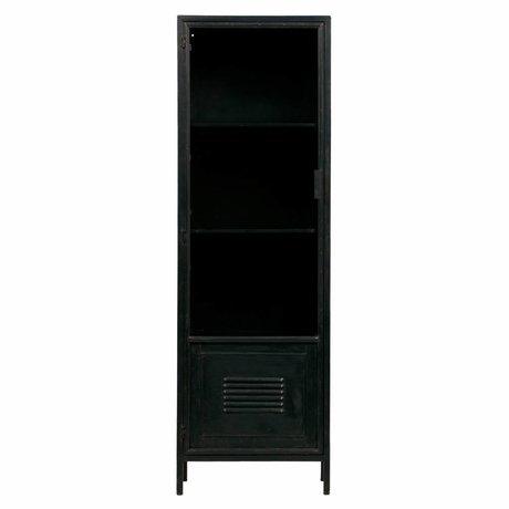 LEF collections Kast Maud zwart metaal 49,5x38x154,5cm