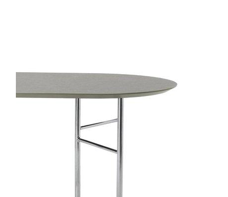 Ferm Living Tafelblad Mingle Oval 150cm grijs groen hout linoleum 150x75x2,5cm
