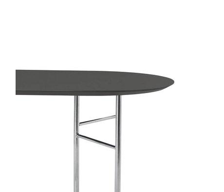 Ferm Living Tabletop Mingle Oval 220cm dark gray wood linoleum 220x90x2.5cm