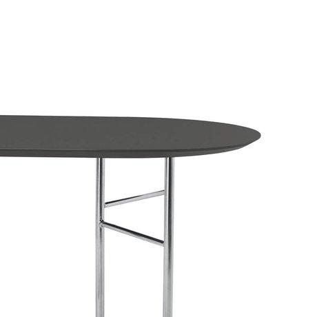 Ferm Living Tafelblad Mingle Oval 220cm donker grijs hout linoleum 220x90x2,5cm