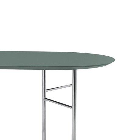 Ferm Living Tischplatte Mingle Oval 220 cm grünes Linoleum aus Holz 220 x 90 x 2,5 cm