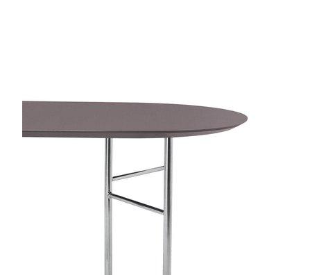 Ferm Living Linge de table ovale 220 cm en linoléum en bois taupe 220 x 90 x 2,5 cm