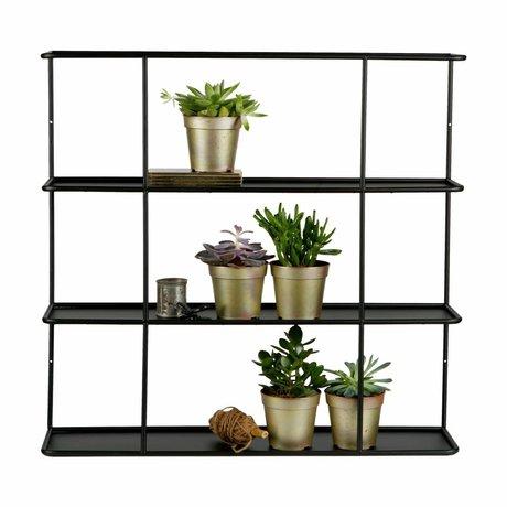 LEF collections Compartment box Myrthe black mental 80x20x76cm
