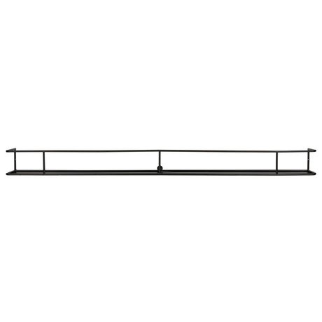 LEF collections Wall shelf Myrthe XXL black metal 160x15x13cm