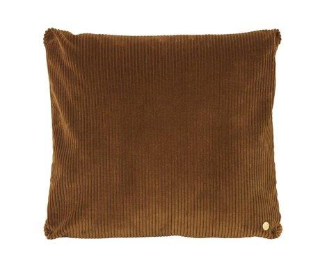 Ferm Living Throw pillow Corduroy gold textile 45x45cm