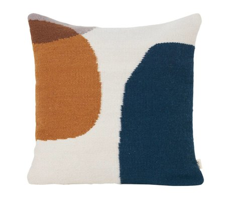 Ferm Living Sierkussen Kelim Merge multicolour textiel 50x50cm