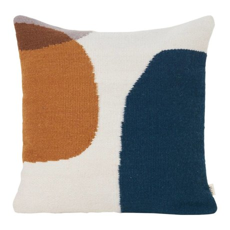 Ferm Living Throw pillow Kelim Merge multicolour textile 50x50cm
