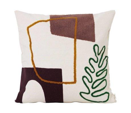 Ferm Living Sierkussen Mirage Leaf multicolour textiel 50x50cm