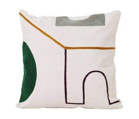 Ferm Living Cushion Mirage Gate multicolour textile 50x50cm