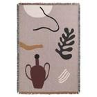 Ferm Living Plaid Mirage grau multicolor Baumwolle 120x170cm