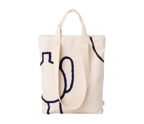 Ferm Living Tote bag Mirage dark blue cotton 36x43cm