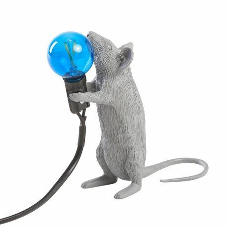 Seletti table lamp mouse gray plastic 6x13,3x14,5cm