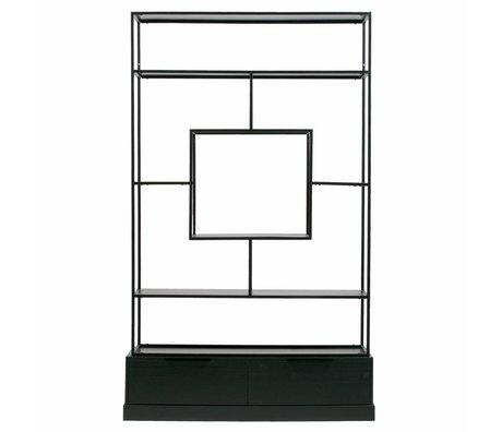 WOOOD Ablagebox Fons matt schwarz Metall Holz 126x38x204cm