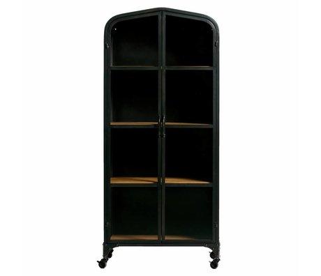 WOOOD Cupboard Lori brown black metal wood 71x41.5x159cm