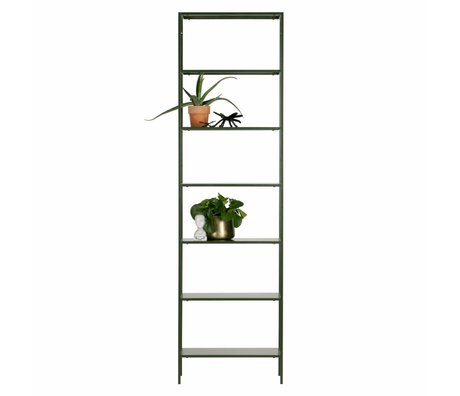 WOOOD Rack Scott green metal 61x35x215cm