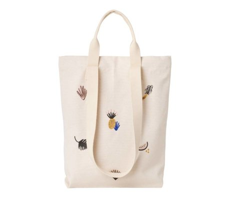 Ferm Living Carry bag Fruiticana cotton canvas 45x34cm