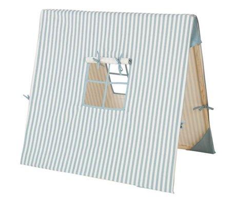 Ferm Living Tent Blue Thin Striped katoen hout 100x100cm