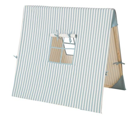 Ferm Living Zelt Blue Thin Striped Baumwollholz 100x100cm