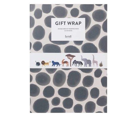 Ferm Living Geschenkverpackung Buch Geschenkpapier Kinder