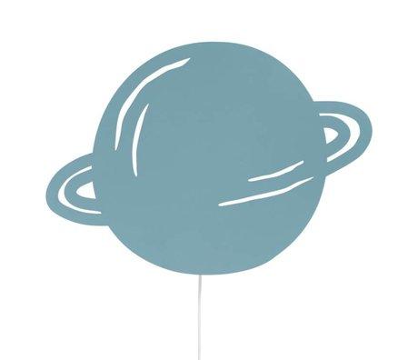 Ferm Living Wandlamp Planet dusty blauw eikenhout 39x28cm