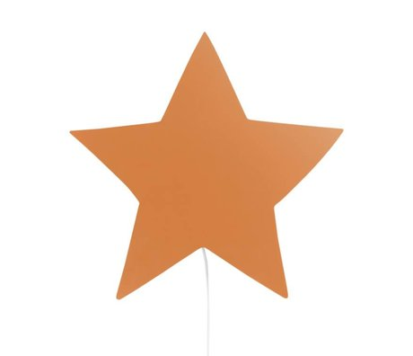 Ferm Living Wall lamp Star mustard oak 33x29,8x6,5cm
