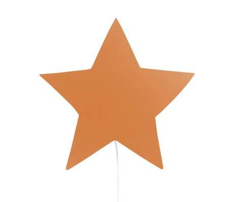 Ferm Living Wandlamp Star mustard eikenhout 33x29,8x6,5cm