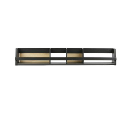 BePureHome Bookcases Shelving black pine 25x150x15cm