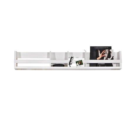 BePureHome Bibliothèque étagères pin blanc 25x150x15cm