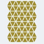 Ferm Living Muursticker Mini Triangles goud 72 stuks