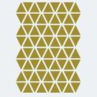 Ferm Living Sticker mural Mini Triangles or 72 pièces