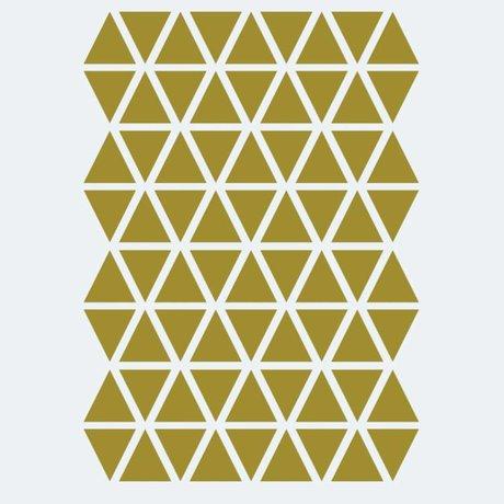 Ferm Living Wall sticker Mini Triangles gold 72 pieces