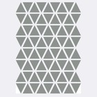 Ferm Living Wall sticker Mini Triangles gray 72 pieces